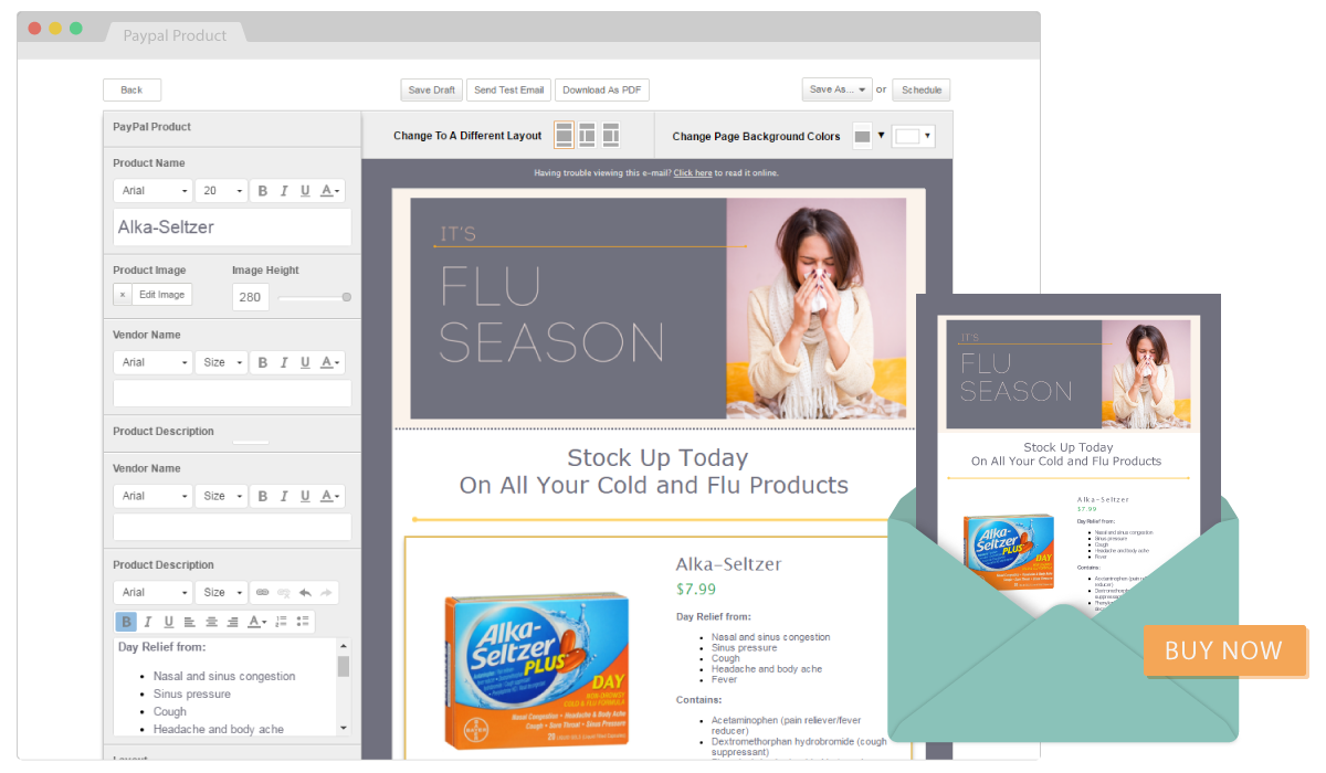 Sell your pharmacy products online and in email with SnapRx and PayPal with the PayPal But button