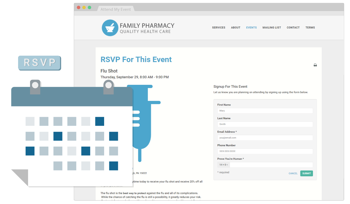 Drive traffic to your pharmacy with an in-store event